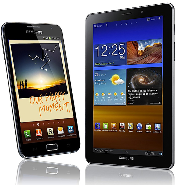 Samsung unveils GALAXY Note smartphone & the Samsung GALAXY Tab 7.7 tablet